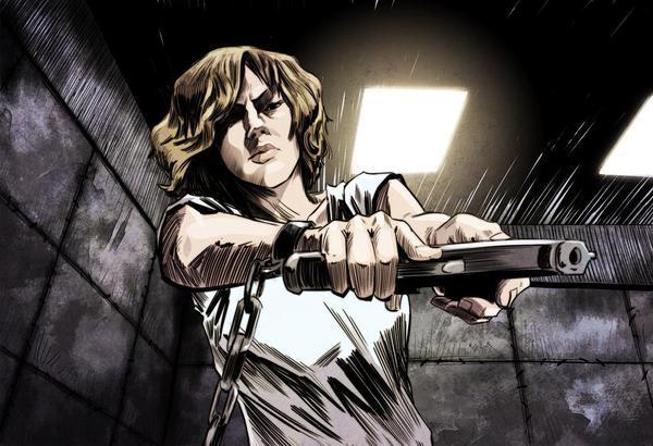 Un immagine dal graphic novel di Lucy