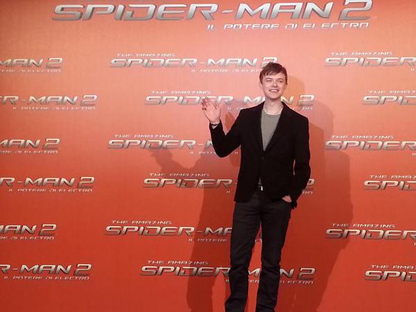 Dane DeHaan alla premiere di The Amazing Spider-Man 2. Fonte: www.facebook.com/theamazingspiderman.italia
