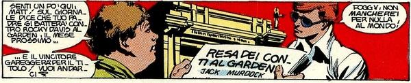 Rocky Davis in Daredevil 164 - Disegno di Frank Miller