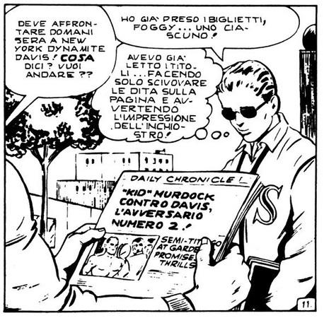 Dynamite Davis - Disegno di Bill Everett da Daredevil 1 (Devil Corno 1)