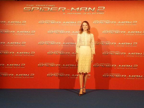 Emma Stone alla premiere di The Amazing Spider-Man 2. Fonte: www.facebook.com/theamazingspiderman.italia