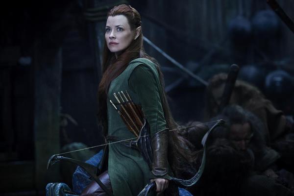 Evangeline Lilly, ossia Tauriel in Lo Hobbit: la battaglia delle cinque armate