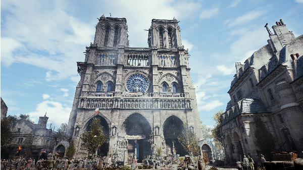La riproduzione della cattedrale di Notre Dame