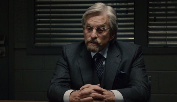 Micheal Douglas nel ruolo di Hank Pym