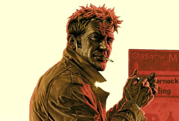 John Constantine in un dettaglio della copertina di Hellblazer #224 (novembre 2006) illustrata da Lee Bermejo