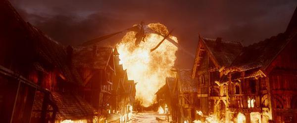 Una scena di Lo Hobbit: la battaglia delle cinque armate