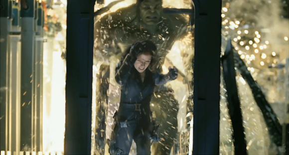 Hulk e la Vedova Nera nel primo Avengers