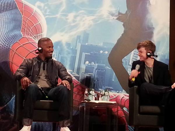 Jamie Foxx alla conferenza stampa di The Amazing Spider-Man 2. Fonte: www.facebook.com/theamazingspiderman.italia