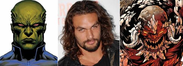 Un ruolo per Jason Momoa: Martian Manhunter (a sinistra) o Doomsday (a destra)?