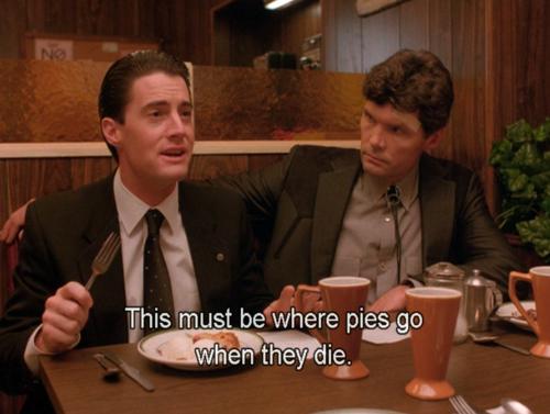 Kyle MacLachlan ed Everett McGill in Twin Peaks