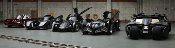 Le Batmobili apparse in televisione e al cinema, mostrate al Comic-Con 2012 in occasione della presentazione del documentario a esse dedicato