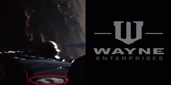Il fotogramma de L'Uomo d'Acciaio in cui appare l'easter egg del satellite Wayne Enterprises