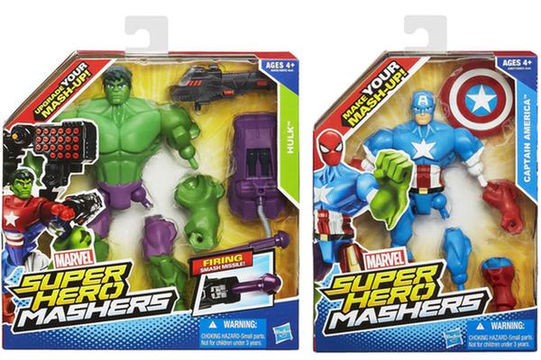 Le scatole di Hulk e Captain America