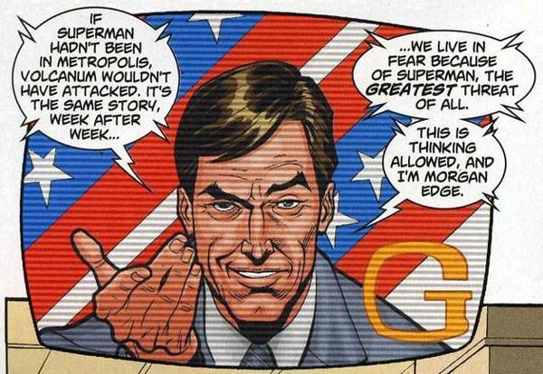 Morgan Edge illustrato da Chris Batista in Superman Confidential #8 (dicembre 2007)