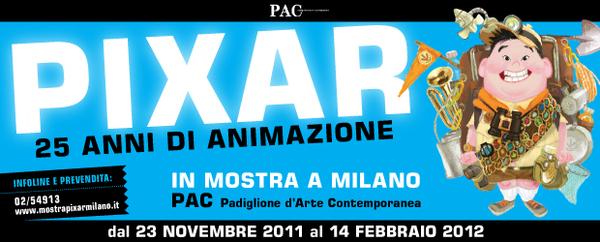 """La locandina della mostra """"PIXAR, 25 anni di animazione"""""""