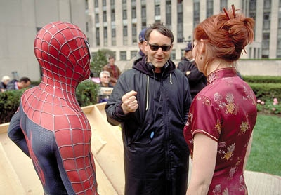 Sam Raimi sul set di Spider-Man