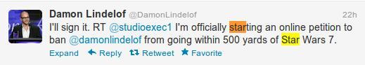 Tweet di Damon Lindelof