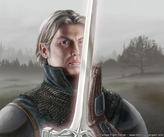 Ser Arthur Dayne in un disegno di Henning Ludvigsen, © Fantasy Flight Games.