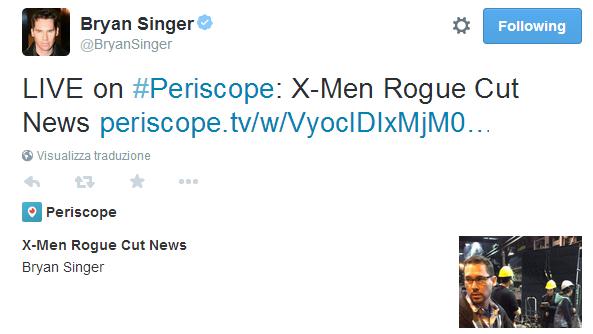 Singer su Twitter