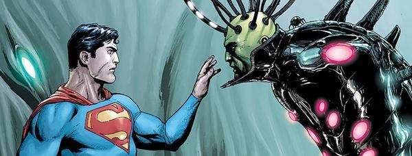Superman e Brainiac in un'illustrazione di Gary Frank