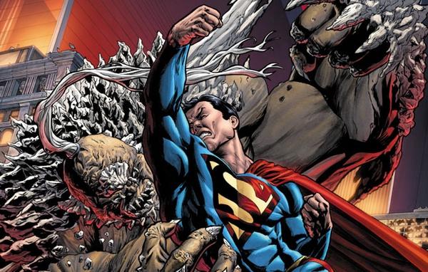Superman affronta Doomsday in un'illustrazione di Tony Parker