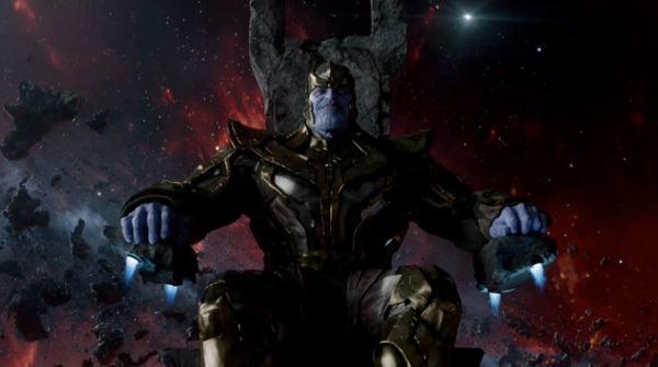 Josh Brolin come Thanos in Guardiani della Galassia