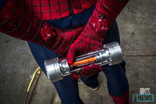 Il lanciaragnatele in The Amazing Spider-Man 2: il potere di Electro.