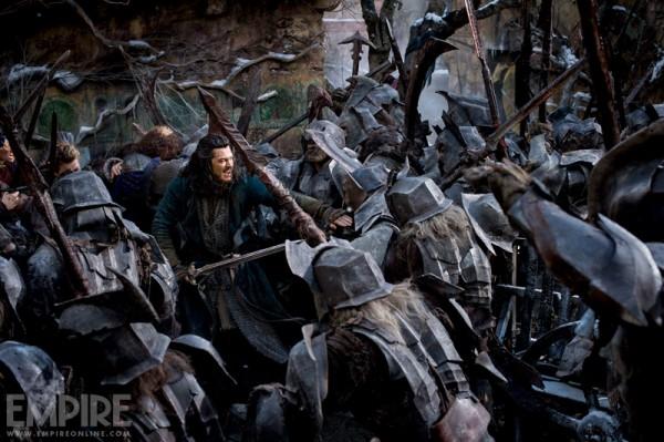 Luke Evans in Lo Hobbit: la battaglia delle cinque armate