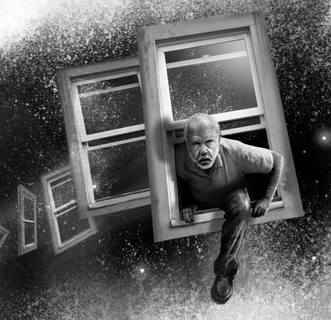 Artwork di Maurizio Manzieri ispirato a The Window of Time di Richard Matheson . Pubblicato sul numero 1 di Fantasy & Science Fiction Magazine versione italiana (per concessione dell'autore)