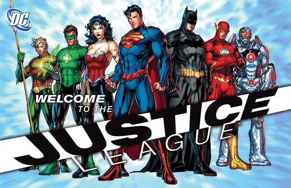 La più recente formazione della Justice League, illustrata da Jim Lee