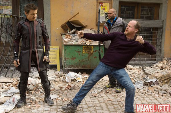 Joss Whedon sul set di Avengers: Age of Ultron