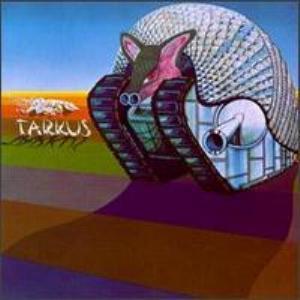 La copertina di Tarkus degli EL&P