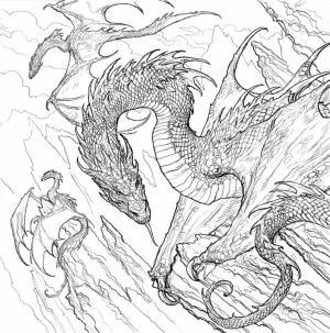 Una delle illustrazioni interne di Il trono di spade. Il coloring book ufficiale