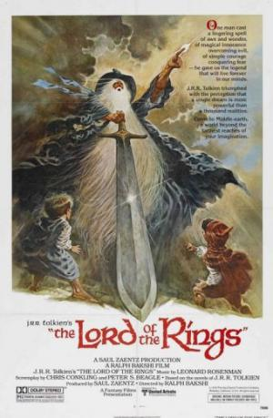 Il manifesto di The Lord of The Rings di Ralph Bakshi