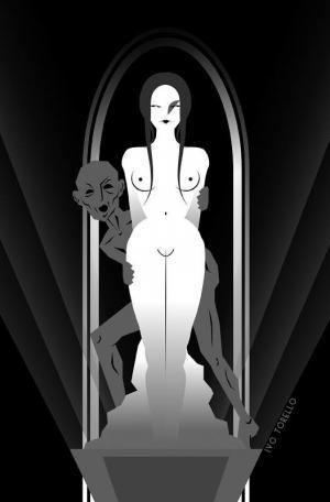 """""""Pigmalione e Galatea""""; illustrazione di Ivo Torello per """"Il volto dipinto"""" di Oliver Onions, edizioni Hypnos."""