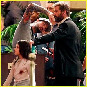 Dal set di Wolverine 3. Fonte: justjared.com