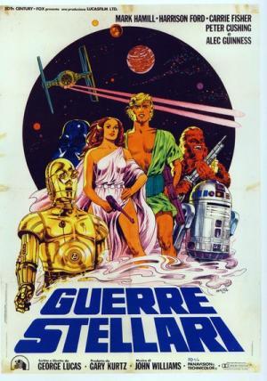 Il manifesto di Guerre Stellari del 1977