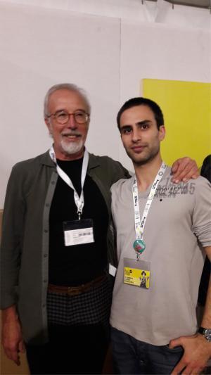 Simone Bonaccorso, autore dell'articolo, con Cavazzano