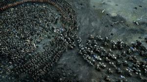 Una scena di battaglia nella serie televisiva Il trono di spade, basata su Le cronache del ghiaccio e del fuoco di George R.R. Martin