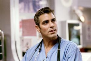 George Clooney in E.R. Medici in prima linea.