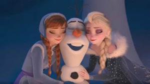 Anna, Olaf ed Elsa