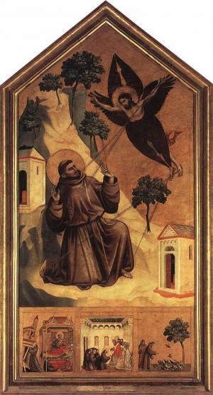 Stigmate di San Francesco di Giotto (Fonte:Web Gallery of Art: Image Info about artwork, Pubblico dominio, https://commons.wikimedia.org/w/index.php?curid=15884225)