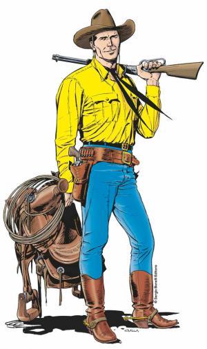 Alla mostra Tex. 70 anni di un mito è possibile scattare una fotografia insieme a Tex e fargli delle domande.