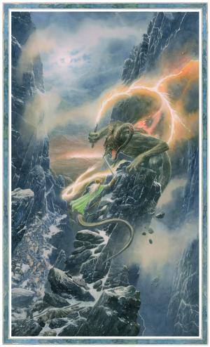 Glorfindel and the Balrog -Alan Lee_Copyright © Alan Lee. Courtesy HarperCollins Publishers Ltd and Bompiani - Giunti Editore S.p.A