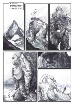 Una tavola tratta da Le Terre dei Giganti Invisibili di Giada Tonello, vincitrice dell'edizione 2017 di Lucca Contest Project. (Fonte: Edizionibd.it)