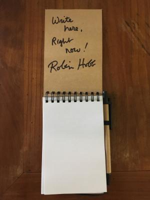 "Il taccuino ""Write here, Right Now!"" di Robin Hobb"