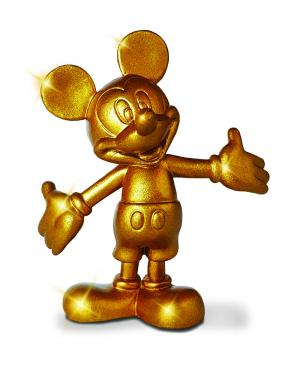 la statuina 3D Topolino Gold 90° limited edition