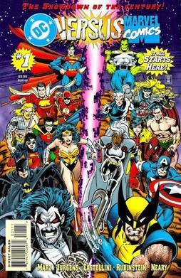 Il primo numero della miniserie DC versus Marvel del 1996.