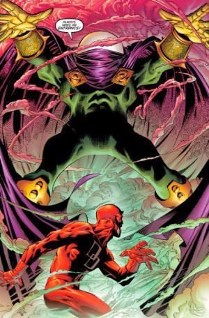 Mysterio sprigiona le proprie illusioni contro Daredevil in Daredevil Vol 2 #6 di aprile 1999.