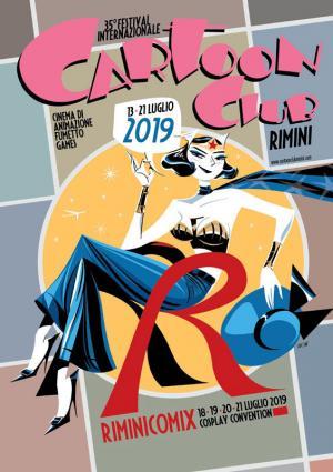 La locandina di Cartoon Club 2019 realizzata da Antonio Lapone.